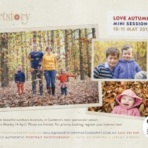 Love Autumn Mini Portrait Photography Sessions in Canberra by Heartstory