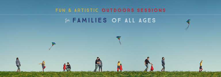 Fun and artistic outdoors sessions for families of all ages