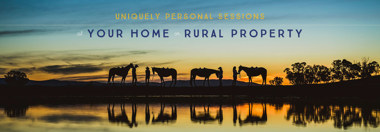 Uniquely personal sessions at your home or rural property